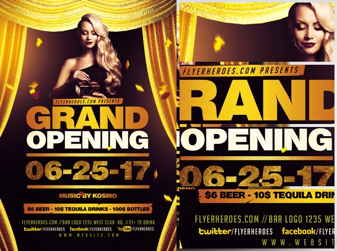 Grand Opening Flyer Template Luxury Grand Opening Flyer Template Flyerheroes
