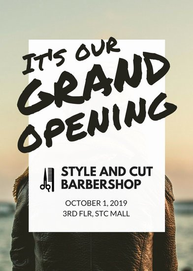 Grand Opening Flyer Template Unique Barbershop Grand Opening Flyer Templates by Canva