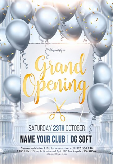 Grand Opening Flyer Template Unique Free Grand Opening Flyer Templates