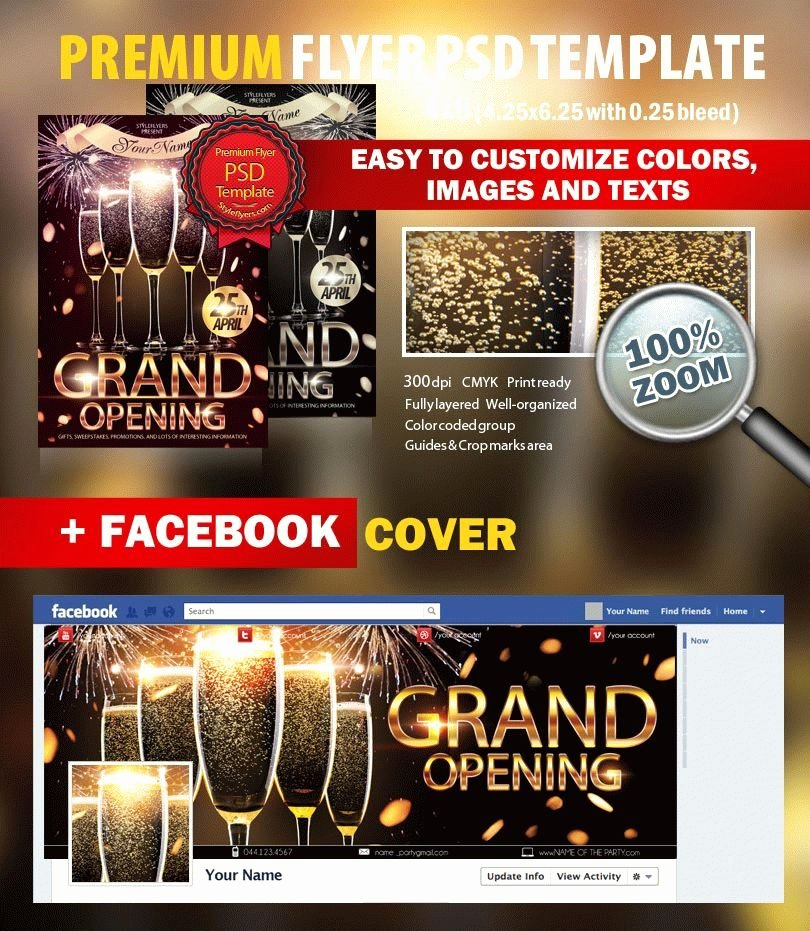 Grand Opening Flyer Template Unique Grand Opening Psd Flyer Template 7112 Styleflyers