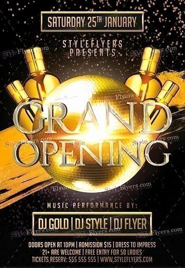 Grand Opening Flyer Template Unique Grand Opening Psd Flyer Template Styleflyers