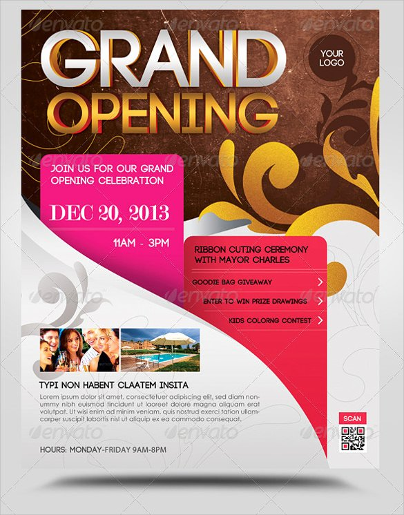 Grand Opening Invitation Template Awesome 28 Grand Opening Flyer Templates Psd Docs Pages Ai