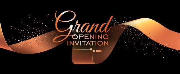 Grand Opening Invitation Template Awesome Grand Opening Invitation Banner Template with Gold Ribbon