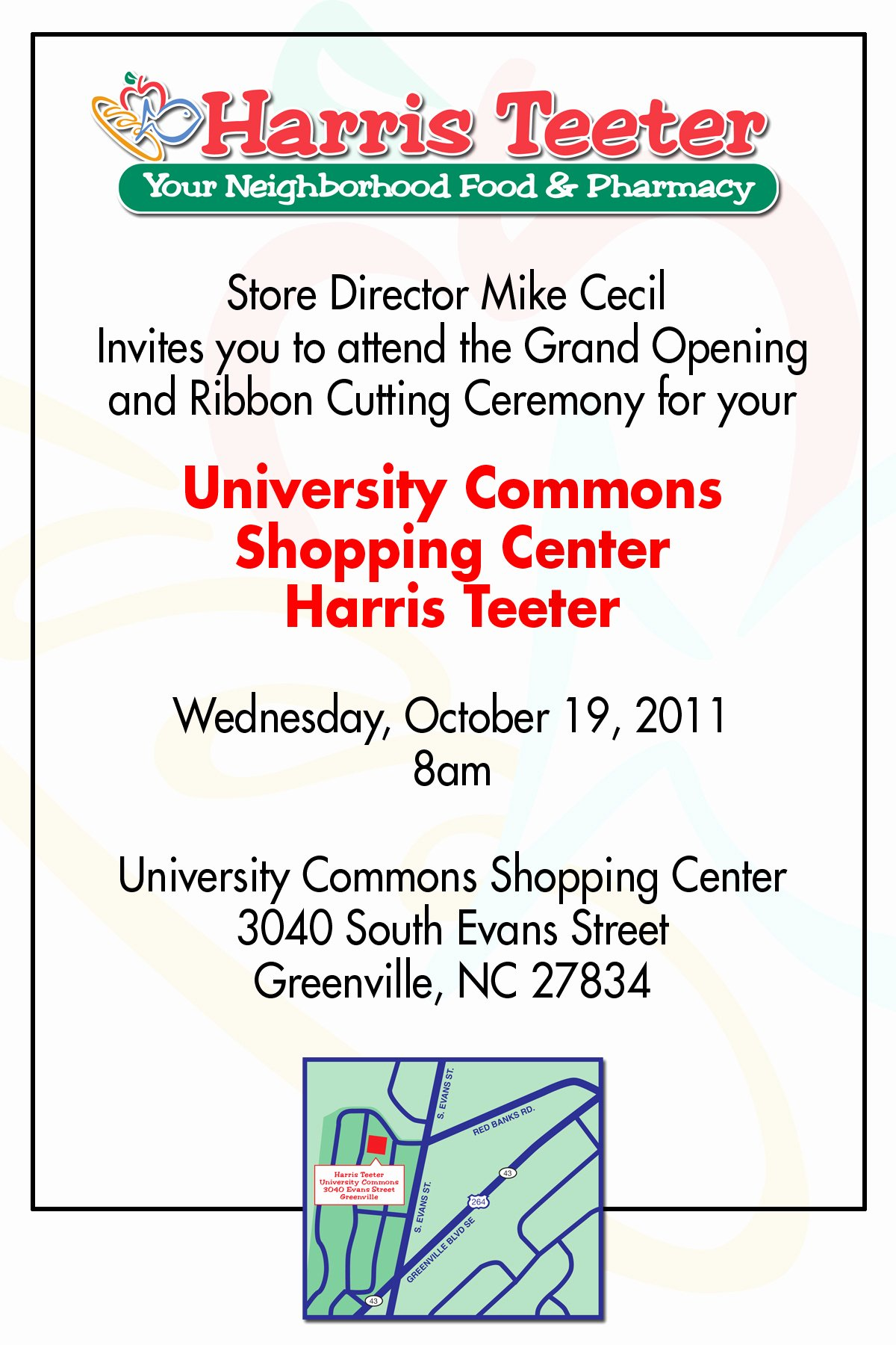 Grand Opening Invitation Template Awesome Grand Opening Of Harris Teeter In Greenville N C