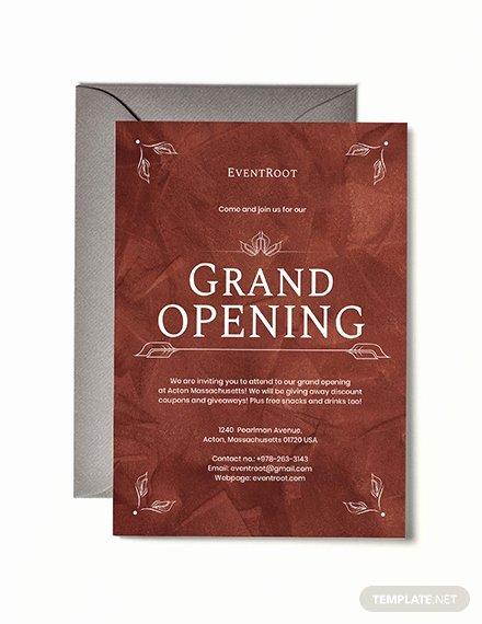 Grand Opening Invitation Template Elegant Free Fice Opening Invitation Card Template Download 537