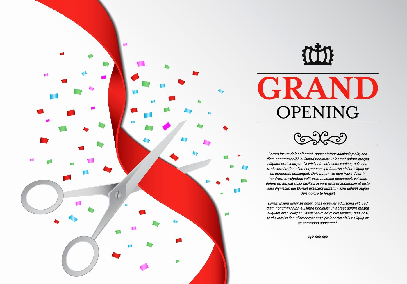 Grand Opening Invitation Template Fresh Ribbon Cutting Ceremony Vector Download Free Vector Art