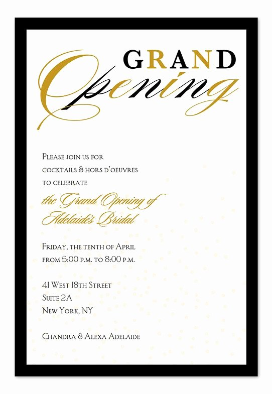 Grand Opening Invitation Template Inspirational Grand Opening Confetti Invitation Inspiration