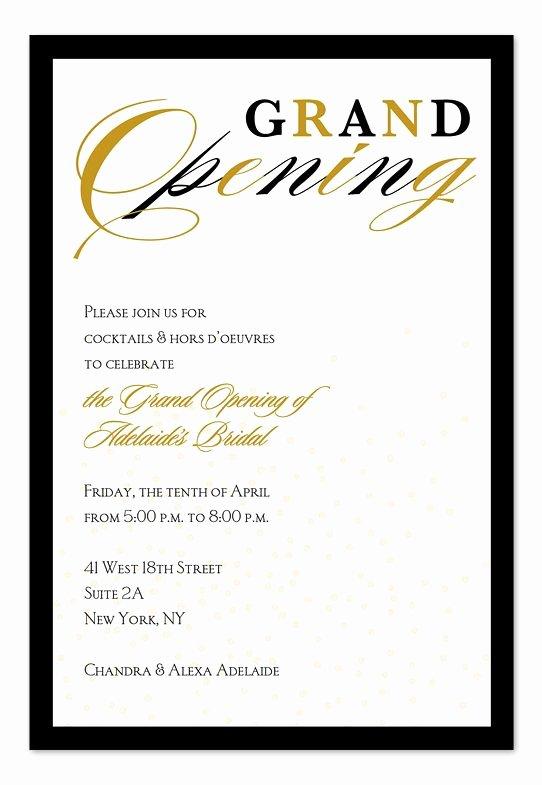 Grand Opening Invitation Template Inspirational Grand Opening Confetti Invitation Inspiration
