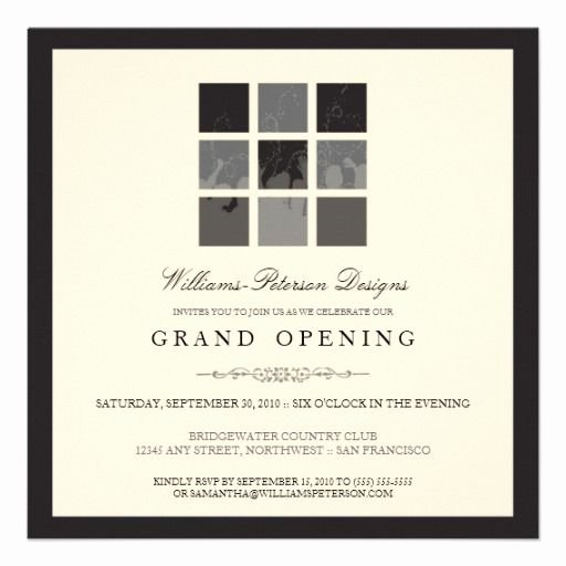Grand Opening Invitation Template Lovely Tba Modern Blocks Grand Opening Invite Black