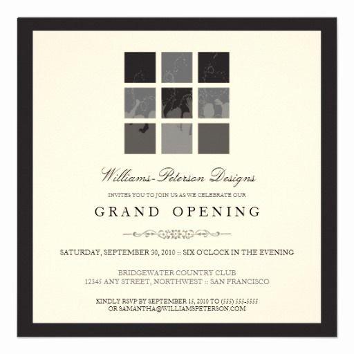 Grand Opening Invitation Template Lovely Tba Modern Blocks Grand Opening Invite Black