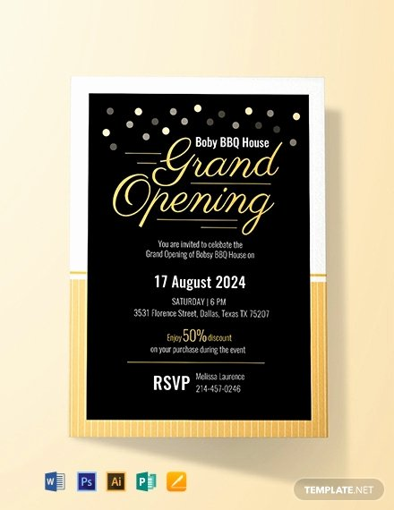 Grand Opening Invitation Template Luxury Free Grand Opening Invitation Card Template Word