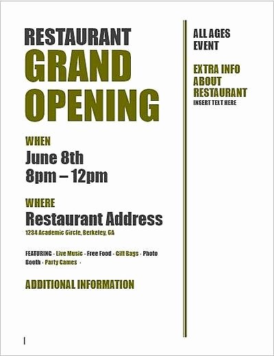 Grand Opening Invitation Template New Restaurant Grand Opening Invitation Templates