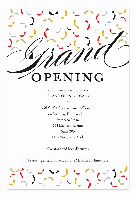 Grand Opening Invitation Template New Trendy Opening Corporate Invitations by Invitation