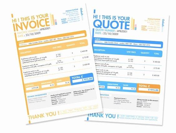 Graphic Design Quote Template Inspirational 10 Creative Invoice Template Designs