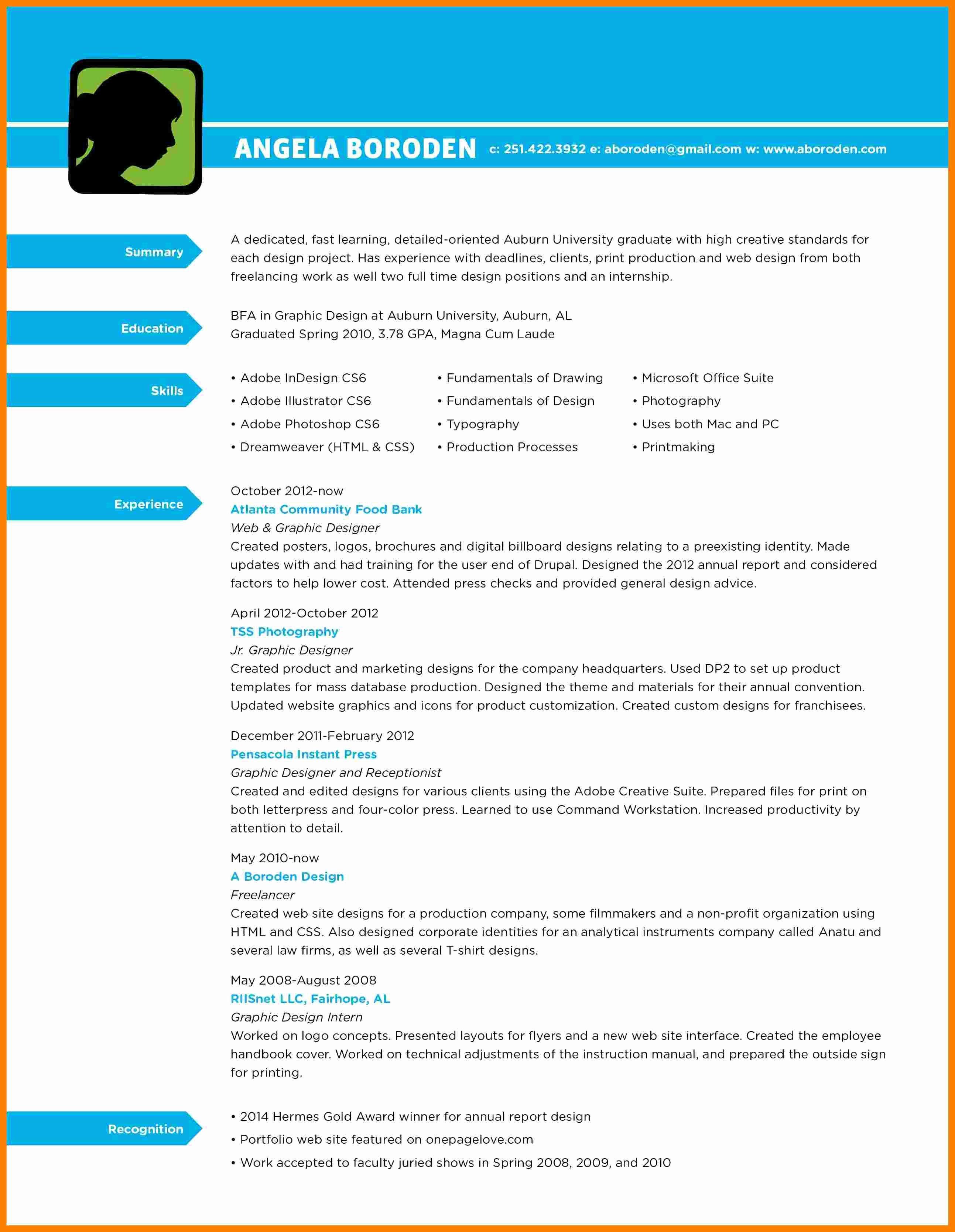 Graphic Designer Resume Pdf Best Of 10 Graphic Design Resume Pdf
