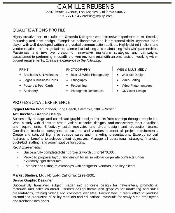 Graphic Designer Resume Pdf Elegant Graphic Designer Resume Template 17 Free Word Pdf format Download