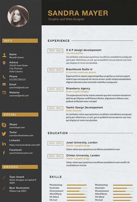 Graphic Designer Resume Pdf Fresh Interior Design Cv Template Word