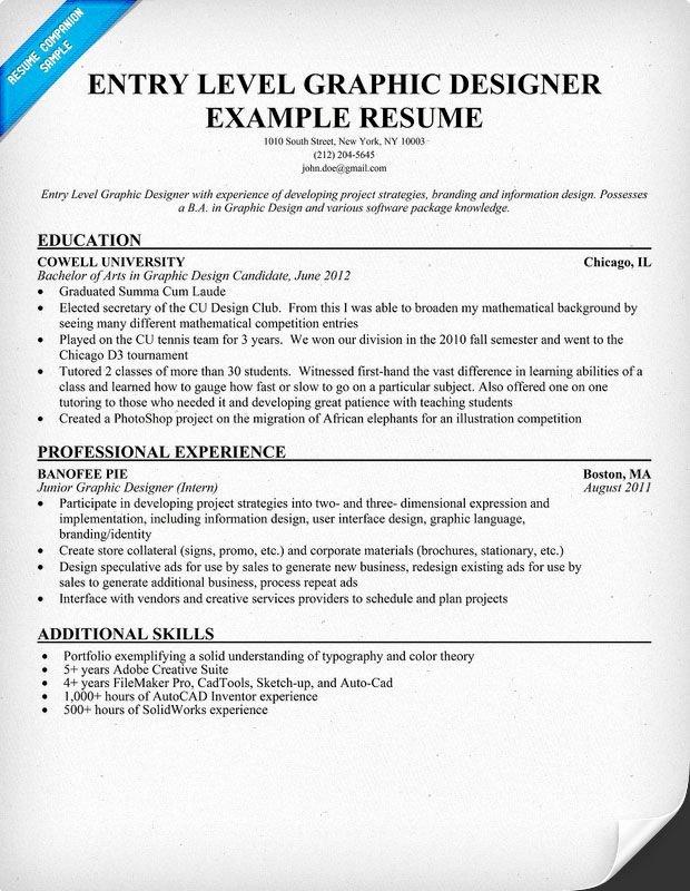 Graphic Designer Resume Pdf Luxury Entry Level Graphic Designer Resume Student Resume Panion