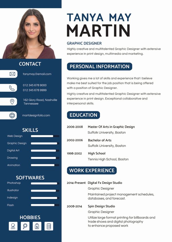 Graphic Designer Resume Pdf New 19 Best Fresher Resume Templates Pdf Doc
