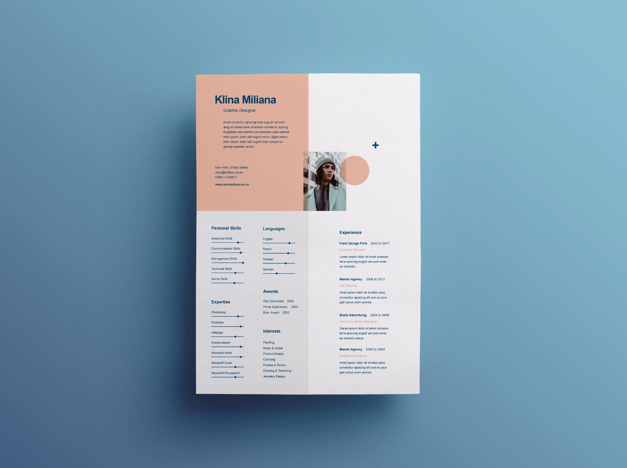 Graphic Designer Resume Pdf New Graphic Design Resume Templates Free Download Template Microsoft Word Pdf Indesign 2019 Designer