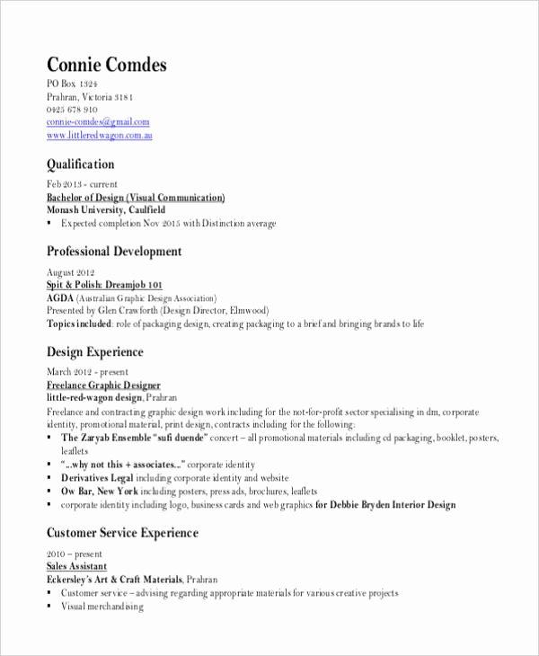 Graphic Designer Resume Pdf Unique 13 Simple Fresher Resume Templates Pdf Doc