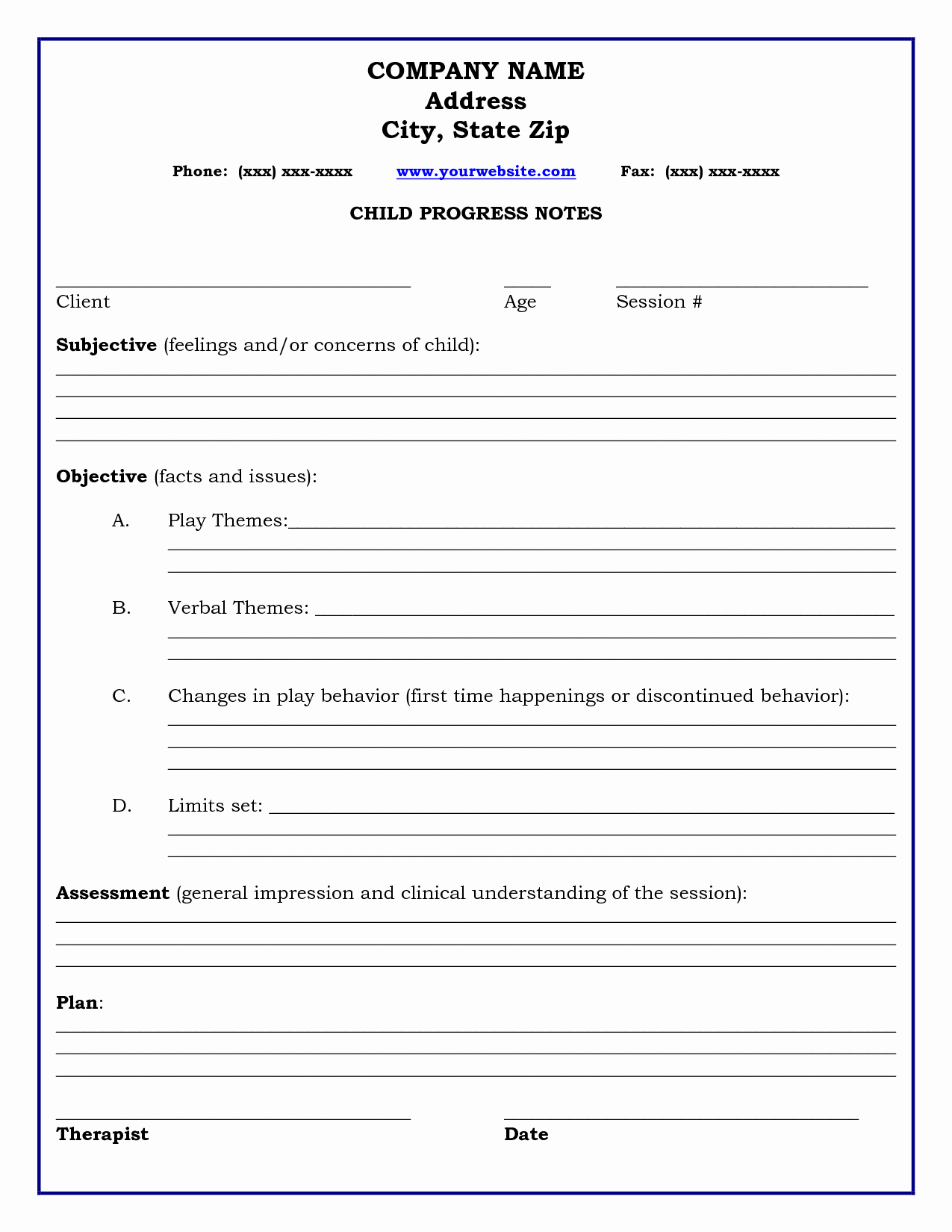 Group therapy Note Template Elegant therapy Progress Note Template Professional Resources Pinterest