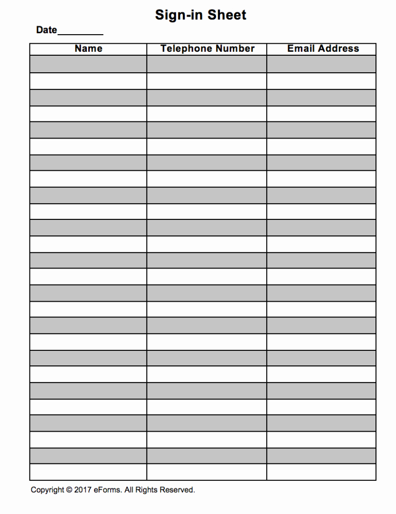Guest Sign In Sheet Elegant attendance Guest Sign In Sheet Template