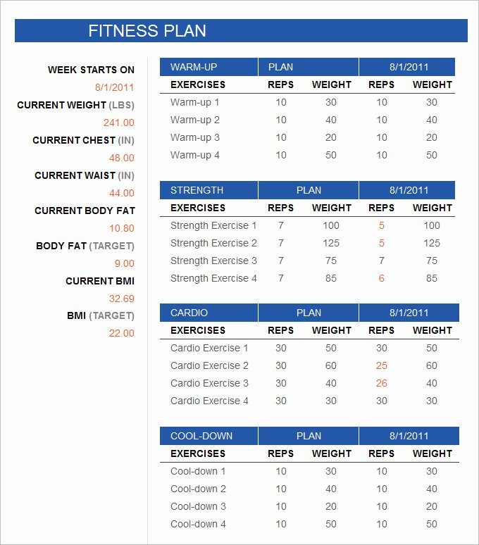 Gym Business Plan Pdf Awesome Fitness Schedule Template 12 Free Excel Pdf Documents