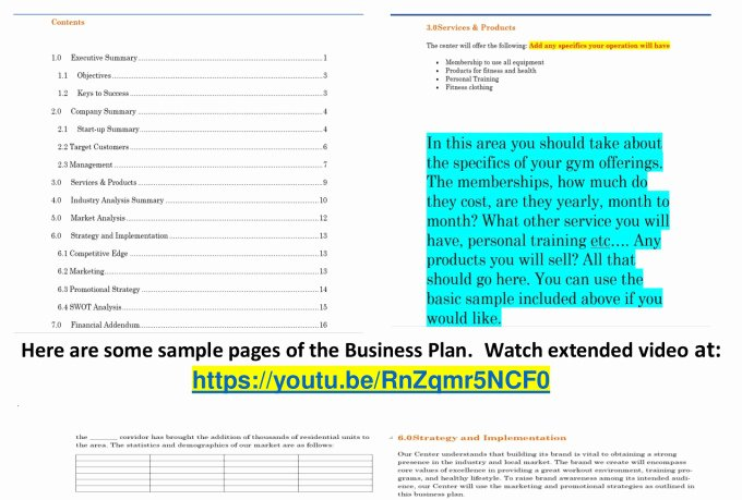 Gym Business Plan Pdf Awesome Supply A Fitness Center Gym Business Plan