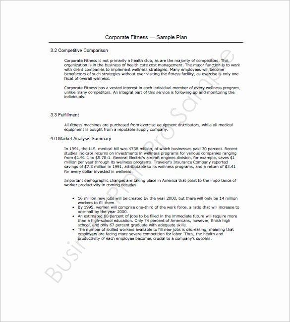 Gym Business Plan Pdf Inspirational Gym Business Plan Template 16 Free Word Excel Pdf
