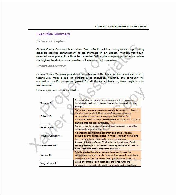 Gym Business Plan Pdf Luxury 18 Gym Business Plan Templates Google Docs Ms Word