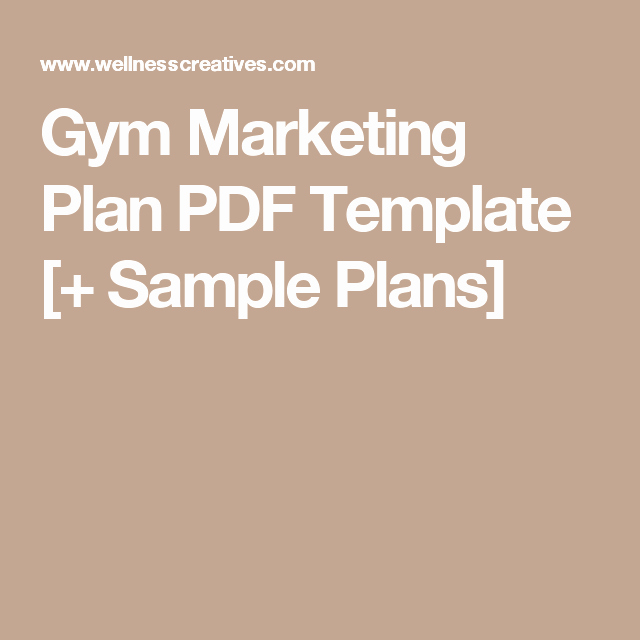 Gym Business Plan Template Beautiful Gym Marketing Plan Pdf Template & How to Guide [with Examples] Fitness Trainer