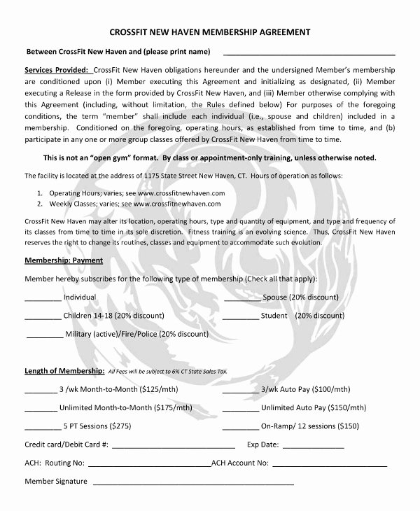 Gym Membership Contract Template Beautiful 11 Gym Membership Contract Examples Word Docs Pages