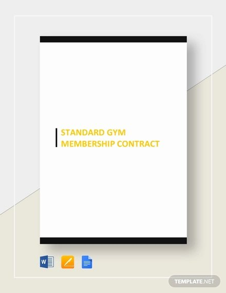 Gym Membership Contract Template Beautiful 15 Gym Contract Templates Word Google Docs Apple Pages