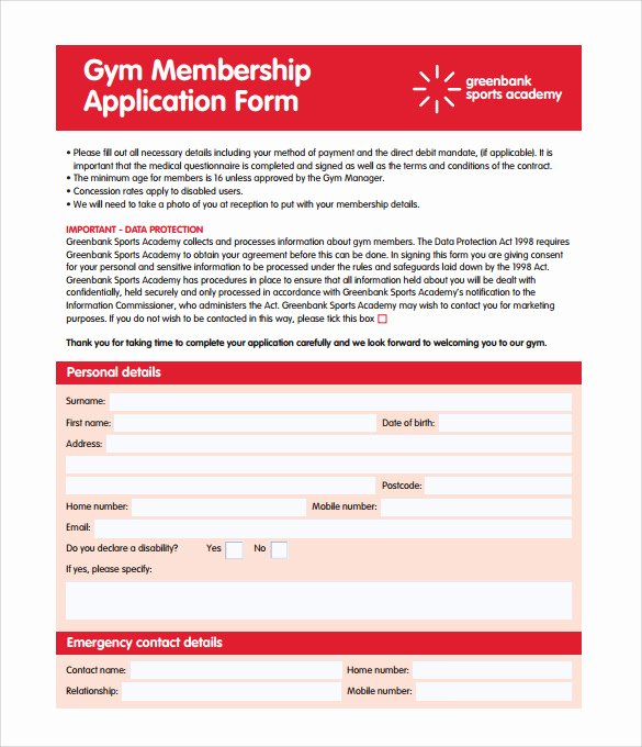 Gym Membership Contract Template Elegant 11 Gym Contract Templates Pages Word Docs