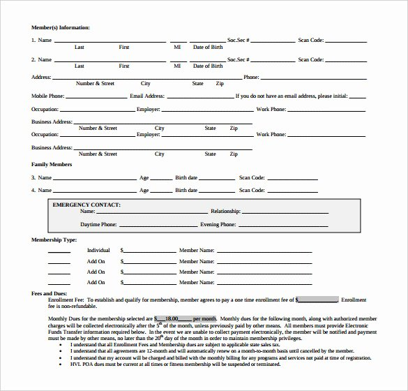 Gym Membership Contract Template Elegant 15 Gym Contract Templates Word Google Docs Apple Pages