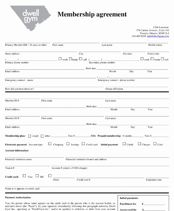 Gym Membership Contract Template Lovely 11 Gym Membership Contract Examples Word Docs Pages
