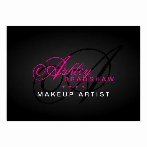 Hair and Makeup Business Cards Awesome Hair and Makeup Artist Monogram Business Cards