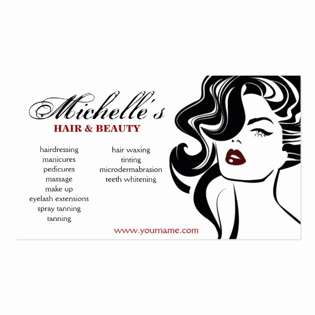 Hair and Makeup Business Cards Awesome Retro Hair & Beauty Salon Business Card Design