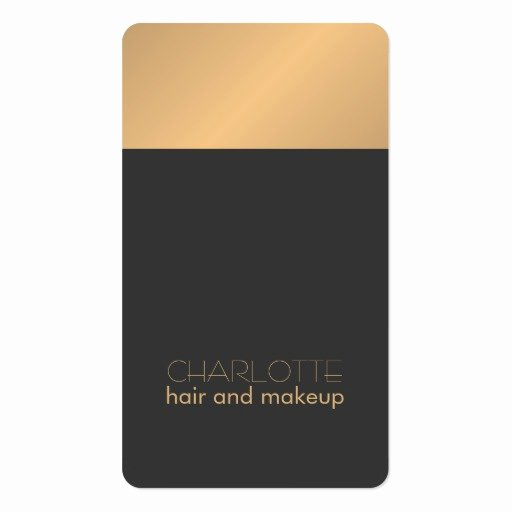 Hair and Makeup Business Cards New Modern Chic Copper Grey Hair and Makeup Business Card