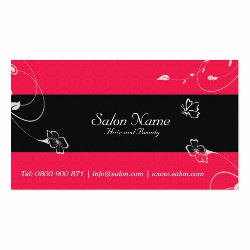 Hair and Makeup Business Cards New Pink Salon Hair and Beauty Business Card