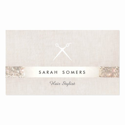 Hair Salon Buisness Cards New Modern Hair Stylist Scissors Faux Sequin Salon Business Card