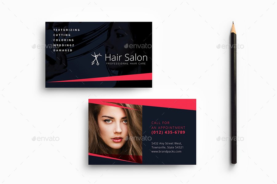 Hair Salon Business Card Best Of Hair Salon Business Card Template by Brandpacks