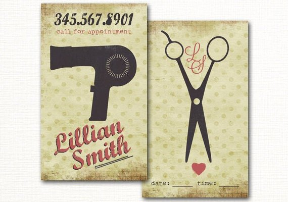 Hair Salon Business Card Elegant Hair Salon Business Card Premade Hair Stylist Business Card