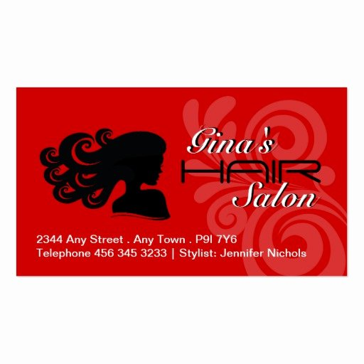 Hair Salon Business Card Elegant Hair Salon Business Cards