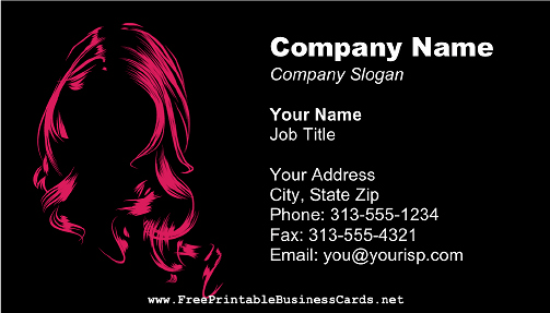 Hair Salon Business Card Inspirational Hair Salon Business Card