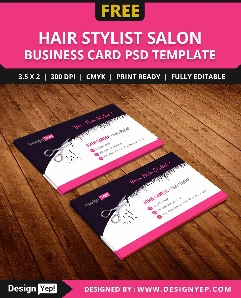 Hair Salon Business Card Luxury Free Hair Stylist Salon Business Card Template Psd On Behance