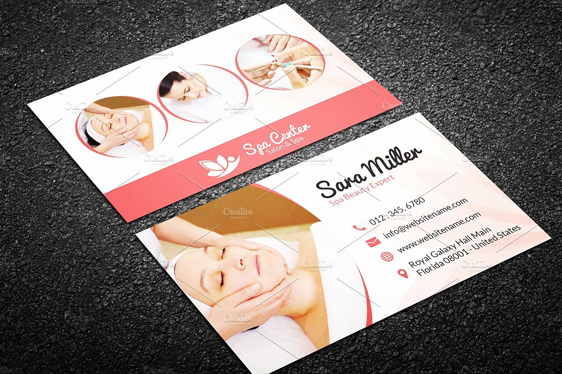 Hair Salon Business Card Unique Beauty Salon Spa Business Card 41 Business Card Templates Creative Market
