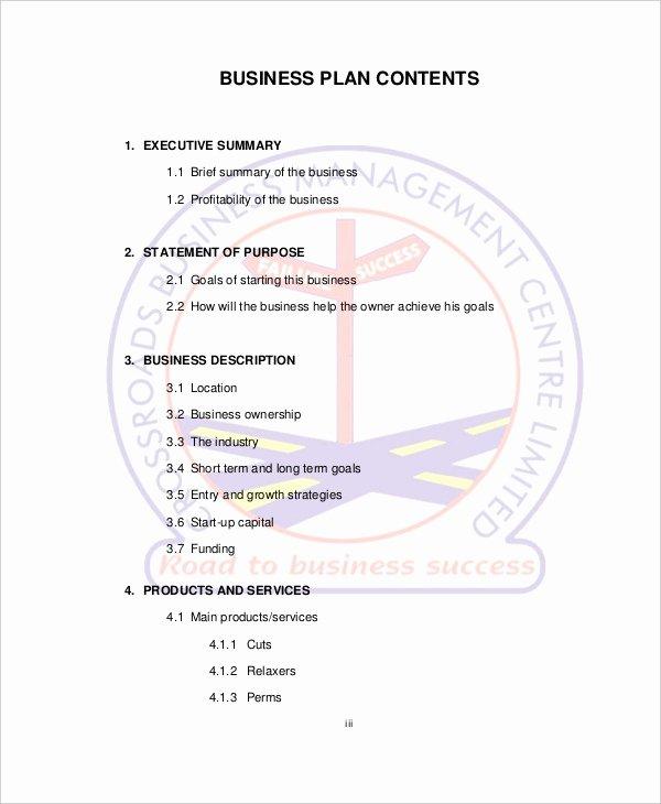 Hair Salon Business Plan Pdf Inspirational Spa & Salon Business Plan Template 10 Free Sample Example format Download