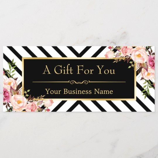 Hair Salon Gift Certificate Inspirational Beauty Salon Gift Certificate Gold Floral Stripes